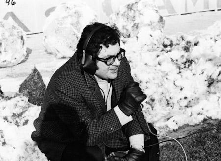 Agustin Rodríguez transmitiendo desde la nieve