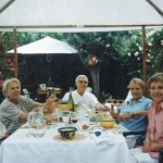 Pere Vidal Ñaco i Jose Luis Barcelona amb les seves senyores i Pilar Matos.