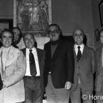 Joan Fuster a Sueca amb la directiva del FC Barcelona. Desembre de 1973.